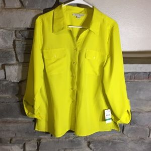 Studio Works Large Bright Yellow Blouse